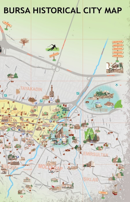 Visit Bursa - City Map - 2019